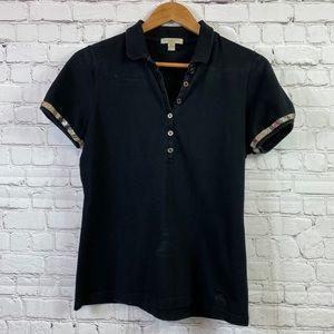 Burberry Britt Nova Check Trim Women's Polo Shirt
